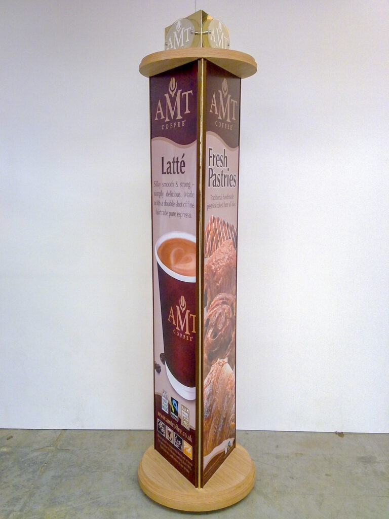 AMT Coffee rotating display stand