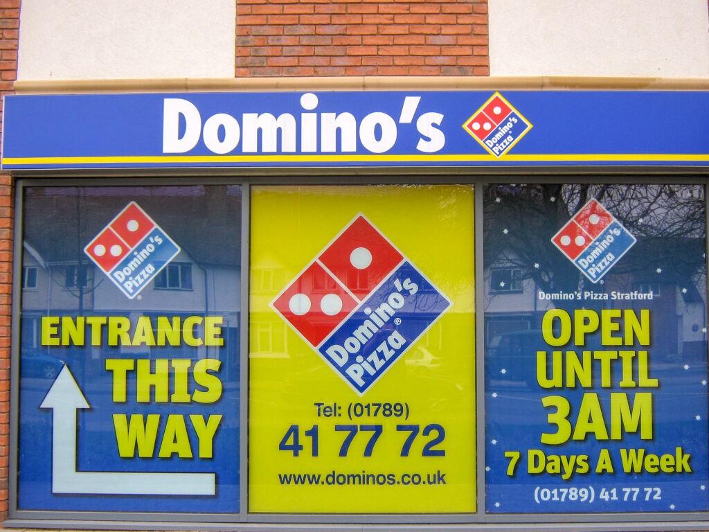 Domino's Pizza Stratford - Window graphics