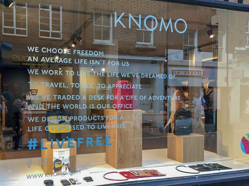 Knomo - Neal Street window graphics