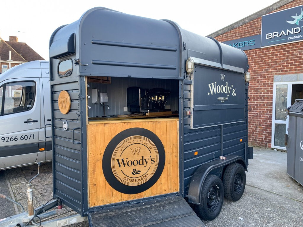 Woody's Coffee Box & Bar - Trailers signs and graphics - front and side