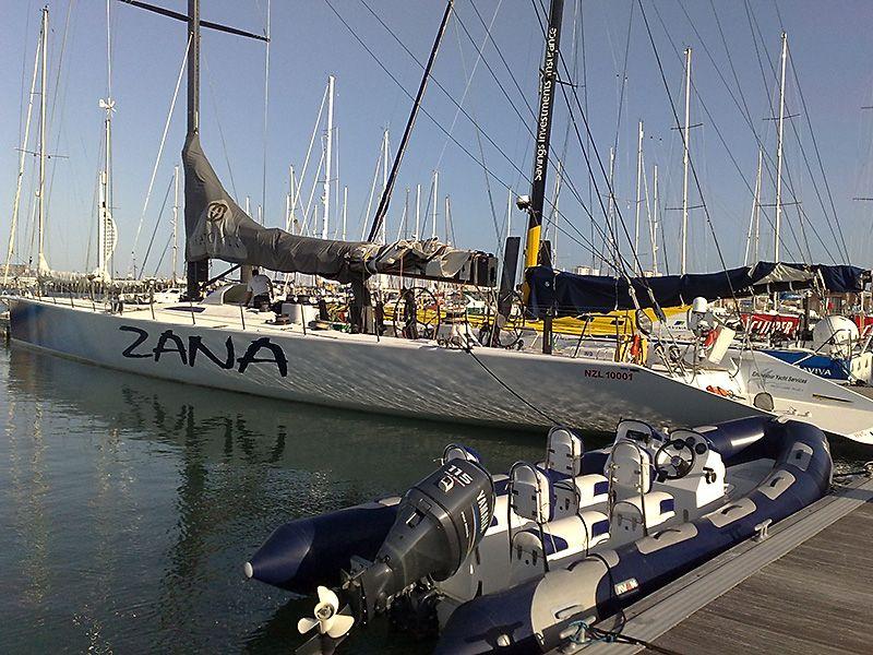 Zana yacht side and stern graphics