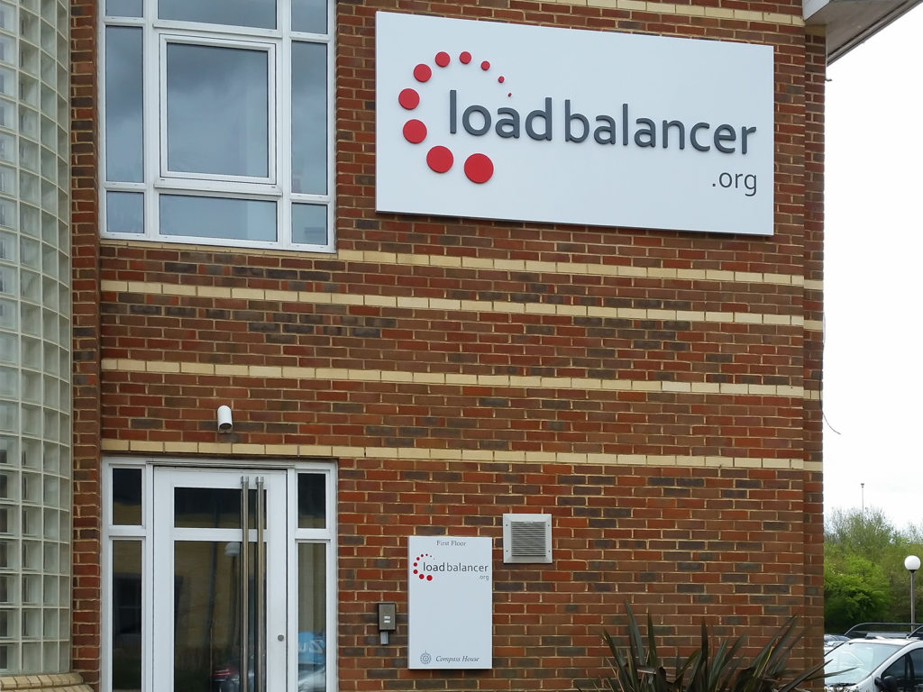 Aluminium composite main sign at Load Balancer, Portchester
