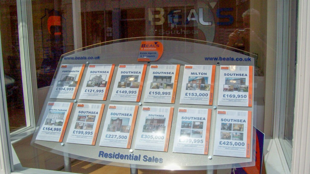 Beal's Estate Agents window display stand