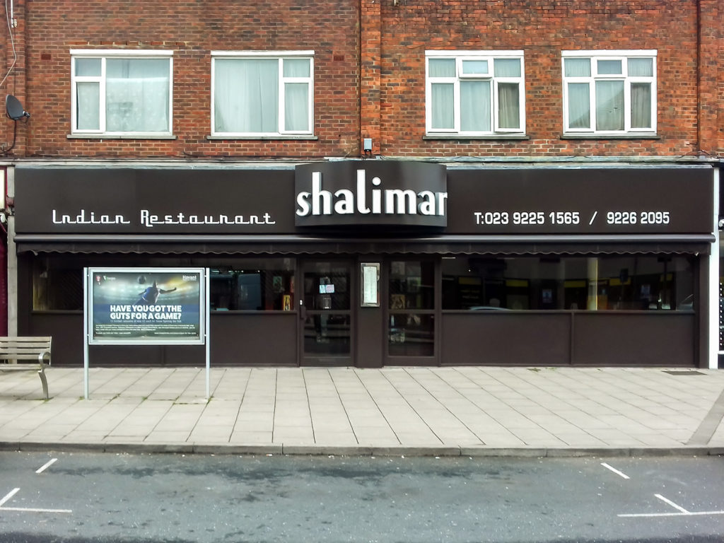 Shalimar Indian Restaurant after the work was completed