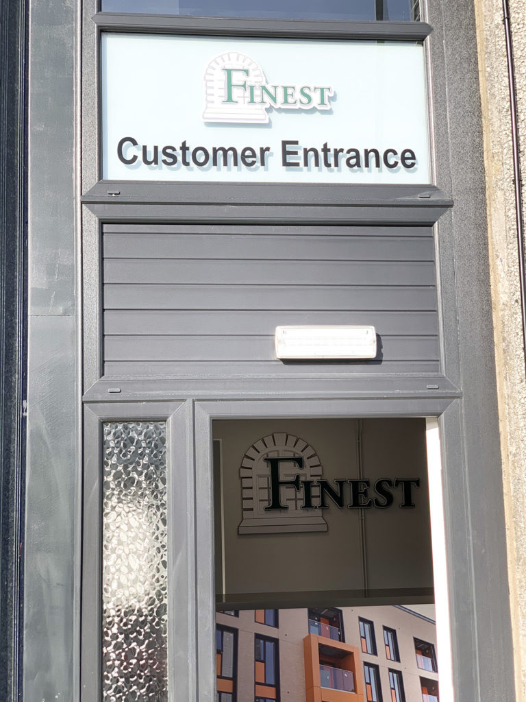 Finest Group customer entrance and view of reception area