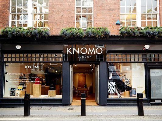 Aluminium composite main sign and cut vinyl window graphics at Knomo at Neal Street, London