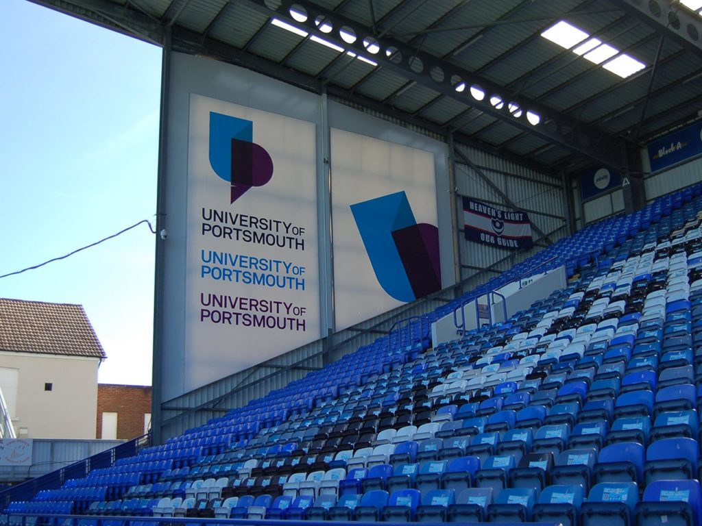 Portsmouth Football Club, University Flexs faced signs