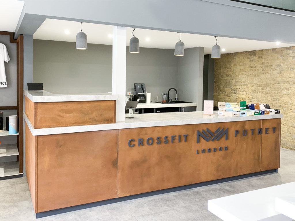 Bespoke counter with Staron top at Crossfit, Putney